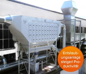 Lufttechnik - Entstaubungsanlagen im Stahlwerksbereich bei Verwendung von Edelstählen im Warmwalzprozess mit unterkritischer Auslegung der Anlagen