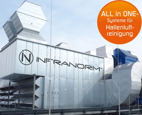 Lufttechnik - All in ONE - Hallenluftreinigungssysteme