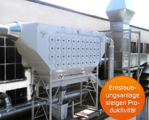 Lufttechnik - Schlüsselfertige Anlagen Entstaubungsanlagen im Stahlwerksbereich bei Verwendung von Edelstählen im Warmwalzprozess mit hoch ökonomischer Auslegung der Anlagen