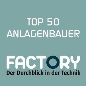 Auszeichnungen INFRANORM® FACTORY Wirtschaftsmagazin Top 50 Anlagenbauer