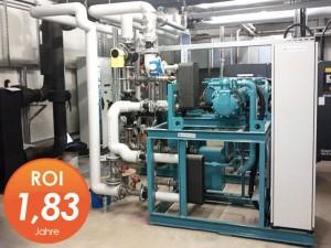Energietechnik - Abwärmenutzung durch industrielle Großwärmepumpen