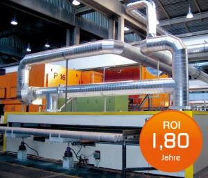 Energietechnik Materialvorwärmung aus Prozessabgas