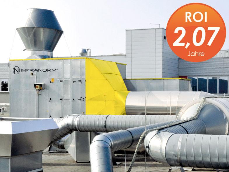 Energietechnik - Wärmerückgewinnung Produktion