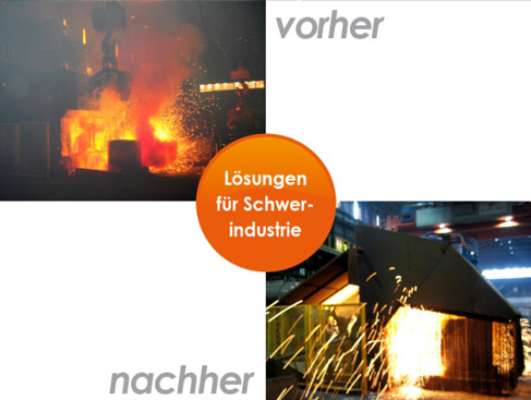 Arbeitnehmerschutz: Lösungen zur Einhaltung gesetzlicher Vorgaben des Arbeitsnehmerschutzes für die Bereiche Hitze, Schall und Luftreinhaltung.